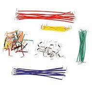 お買い得  Arduino 用アクセサリー-異なる色で140個ジャンパ線