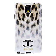 Mert Samsung Galaxy Note Minta Case Hátlap Case Leopárd minta TPU Samsung Note 3