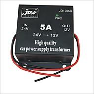 Недорогие Автомобильные зарядные устройства-JD1205 DC 24V к 12V питания автомобилей Converter - черный