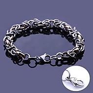 largura da ligação chain artesanal presente personalizado de jóias em aço inoxidável gravado pulseiras 0,8 centímetros
