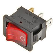 interruptor basculante de 3 pines de encendido / apagado (rojo&negro, 6a, ac 250 V / 10, ac 125v)