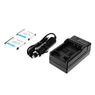ismartdigi-Nik EN-EL10 (2db) 750mAh, 3.7V Kamera akkumulátor + autós töltő NIKON S3000 S200 S500 S700 S5100 S4000