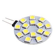 G4 LED-kohdevalaisimet 15 ledit SMD 5050 Lämmin valkoinen Kylmä valkoinen 480lm 5500-6500K DC 12V
