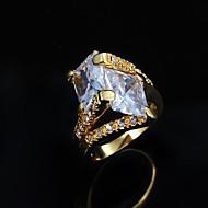 preiswerte Schmuck & Armbanduhren-Damen Bandring - Kupfer, vergoldet, 18K Gold Modisch 6 / 7 / 8 Silber / Golden Für Alltag Normal / Kubikzirkonia