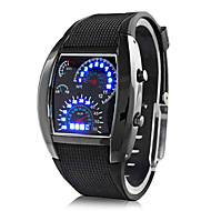cheap Digital Watches-Men's Wrist Watch Calendar / date / day / Creative Rubber Band Black