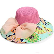 De la Mujer grande de la manera Bowknot plegable sombrero de la playa