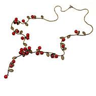 お買い得  -女性用 チェーンネックレス - チェリー, フルーツ ファッション レッド ネックレス 用途 パーティー, 日常, カジュアル