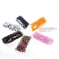 diy twistz siliconen bandz elastiekjes armbanden regenboog kleuren weefgetouw voor kinderen met 600pcs bands en 24 s-clips