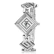 Недорогие Женские часы-Жен. Имитационная Четырехугольник Часы Японский Кварцевый Горячая распродажа Позолоченное розовым золотом Группа Elegant Серебристый