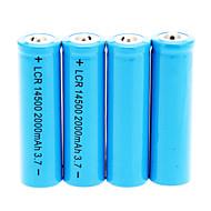 preiswerte Taschenlampen, Laternen & Lichter-14500 2000mAh Batterie (4 St.)