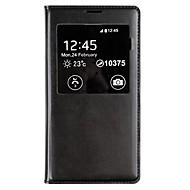 Για Samsung Galaxy Θήκη με παράθυρο / Αυτόματη αδράνεια/αφύπνιση / Ανοιγόμενη tok Πλήρης κάλυψη tok Μονόχρωμη Συνθετικό δέρμα Samsung S5