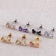 Mujer Joyería Corporal Piercing de Oreja Acero inoxidable Zirconio Zirconia Cúbica La imitación de diamante Moda JoyasDiario Casual
