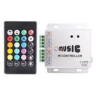 abordables Accesorios para Tiras LED-288W Control Remoto IR Controller Music RGB LED Strip (12 ~ 24V)