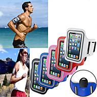 お買い得  携帯電話ケース-ケース 用途 ユニバーサル iPhone 4/4S ウィンドウ付き 腕章 アームバンド 純色 ソフト 繊維 のために