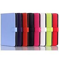Для Кейс для  Samsung Galaxy со стендом / Флип Кейс для Чехол Кейс для Один цвет Искусственная кожа Samsung Tab 4 8.0