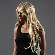 Synteettiset peruukit Naisten Kihara / Laineita Vaaleahiuksisuus Kerroksittainen leikkaus Synteettiset hiukset 20 inch Vesiputous Vaaleahiuksisuus Peruukki Pitkä Full Lace / Suojuksettomat