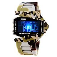 halpa -SKMEI Miesten Urheilukello Armeijakello Digitaalinen Watch Quartz Digitaalinen Japanilainen kvartsi LED LCD Kalenteri Ajanotto