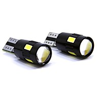 abordables Compra en Grupo-SO.K 2pcs T10 Coche Bombillas 3 W SMD 5630 150 lm 6 LED Luces interiores