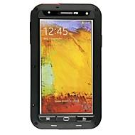 お買い得  携帯電話ケース-ケース 用途 Samsung Galaxy Samsung Galaxy Note 耐埃 耐衝撃 防水 フルボディーケース 鎧 メタル のために Note 3