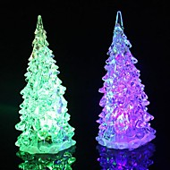 Coway Crystal Christmas Tree Light Värikäs LED Night Light pieni puu Lamp