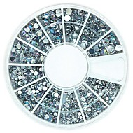 tanie Zdobienie paznokci-Paznokci 120szt mix 4 Rozmiar bling crystal ab cyrkonie akrylowe koła sztuka dekoracji
