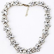Women's Strands Necklaces Alloy Simulated Diamond Birthstones White Jewelry Wedding Party Daily