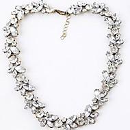 preiswerte -Damen Synthetischer Diamant Stränge Halskette - Diamantimitate Geburtssteine Weiß Modische Halsketten Schmuck Für Hochzeit, Party, Alltag