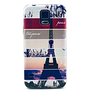 Striped Eiffel Tower Pattern Hard Case Cover for Samsung Galaxy S5 I9600