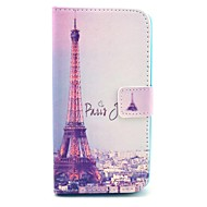 For LG Case Wallet / Card Holder / with Stand / Flip Case Full Body Case Eiffel Tower Hard PU Leather LG