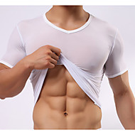 muški čvrsto kratki rukav ultra-tanki svilenkasto seksi t-shirt