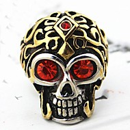 Z&X®  Men's Fashion Skull Crystal Titanium Steel Ring Christmas Gifts