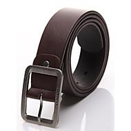 billige Bælter til herrer-Herre Kontor Afslappet Spænde - Læder Ensfarvet
