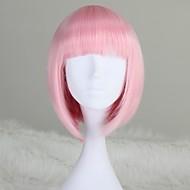 abordables Maquillaje y manicura-Pelucas sintéticas Corte Bob Con flequillo Rosa Mujer Sin Tapa Peluca natural Corta Media