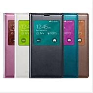 Недорогие Чехлы и кейсы для Galaxy S-Кейс для Назначение SSamsung Galaxy Кейс для  Samsung Galaxy с окошком С функцией автовывода из режима сна Флип Чехол Сплошной цвет Кожа