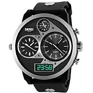 Skmei® Men's Watch Big Dial Three Time Zones 50M Waterproof Cool Watch Unique Watch Fashion Watch