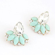 Women's Stud Earrings Fashion Elegant Bridal Synthetic Gemstones Resin Alloy Jewelry Jewelry For Wedding Party Daily Office & Career