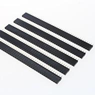 abordables Piezas de Bricolaje y Manualidades-gdw az13 40 pines conectores macho de paso de 2,54 mm - negro (5 piezas)