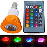 olcso LED szpotlámpák-YWXLIGHT® 250-300 lm E14 LED szpotlámpák 1 led Nagyteljesítményű LED Távvezérlésű RGB AC 85-265V