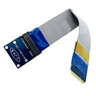 저렴한 -여성 연장 FFC 케이블 유연한 미니 PCI 익스프레스 PCI-E 미니 카드 익스텐더 52pin 남성