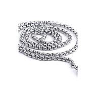 お買い得  -チェーンネックレス  -  チタン鋼 オリジナル, ファッション シルバー ネックレス ジュエリー 用途 日常, カジュアル