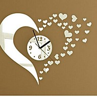 voordelige -Wall Clock Stickers Wall Decals, Fashion 3D Heart Mirror Acrylic Wall Stickers