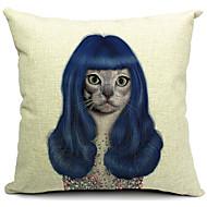 Uroczy kot kreskówka bawełna / płótno pokrywa poduszki dekoracyjne