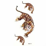 waterdichte tijger tijdelijke tattoo sticker tattoos monster mal voor body art (18.5cm * 8,5 cm)