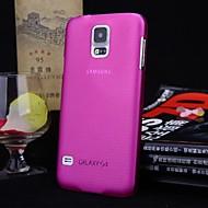 お買い得  携帯電話ケース-ケース 用途 Samsung Galaxy Samsung Galaxy ケース クリア バックカバー ソリッド PC のために S5