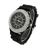 Mujer Reloj Deportivo Reloj Casual Simulado Diamante Reloj Cuarzo La imitación de diamante Silicona Banda Caramelo BohemioMúltiples