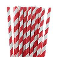 billiga JULPRYDNADER-27 färger miljövänligt papper sugrör randig papper sugrör för halloween julfest dricka (25 st)