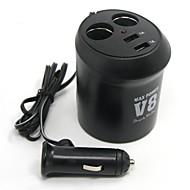 Недорогие Автомобильные зарядные устройства-Tirol новый 12v 2-держатель чашки автоматический адаптер с 2USB Автомобильное зарядное устройство силы 5v / 2a сплиттер