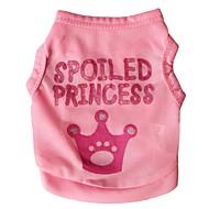 halpa -Kissa Koira T-paita Koiran vaatteet Tiarat ja kruunut Ruusu Pinkki Teryleeni Asu Lemmikit