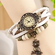 voordelige Bohémien horloges-Dames Modieus horloge Kwarts Leer Band Vintage Bohémien Uil Meerkleurig