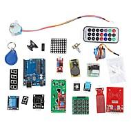 abordables Accesorios para Arduino-kit de aprendizaje de sistema RFID w / uno paso r3 rfid rfid rfid motor módulo tarjeta ic ic llavero basado en Arduino